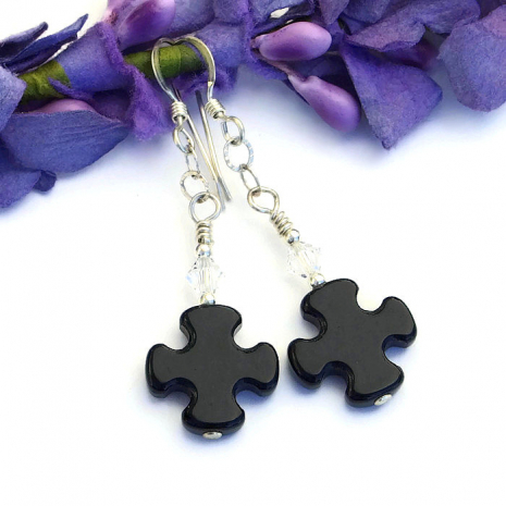 Handmade cross earrings
