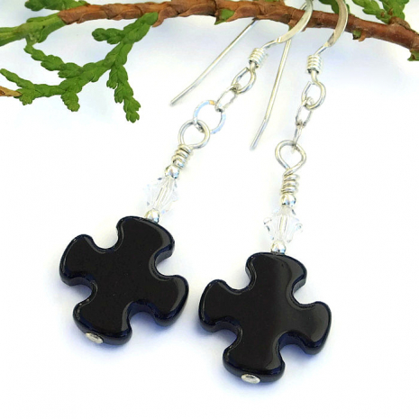 Cross earrings.