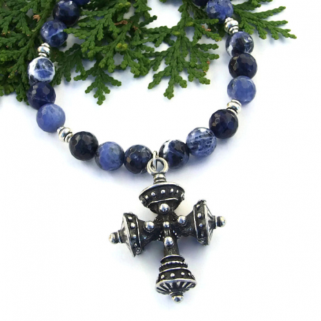 Tudor cross necklace.