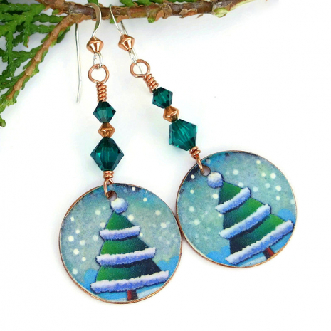 holiday christmas earrings gift idea for women
