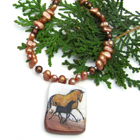horse lover necklace for women