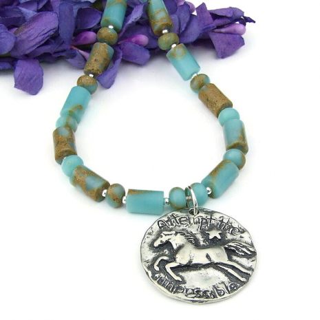 horse lover necklace jewelry gemstones pewter sterling