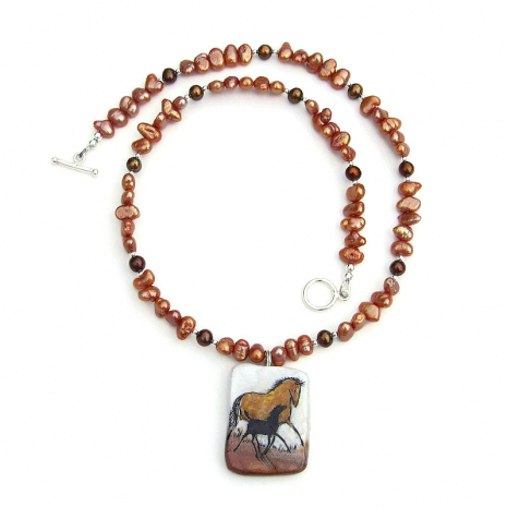 horse pendant jewelry gift for women