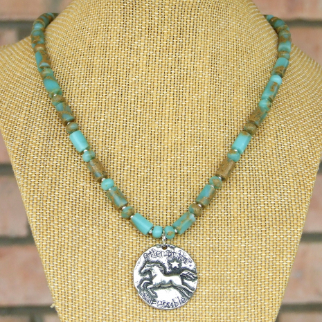 horse pendant necklace gift for women