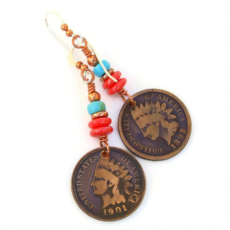 indian head penny jewelry gift for women