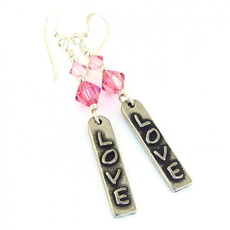 love earrings for her valentines gift