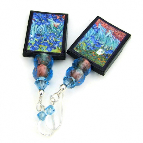 irises jewelry art by van gogh