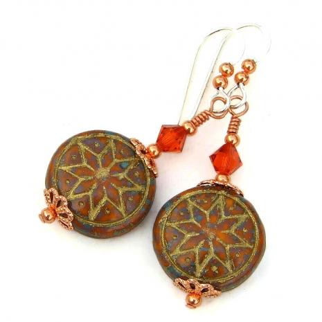 ishtar star of venus earrings gift for women
