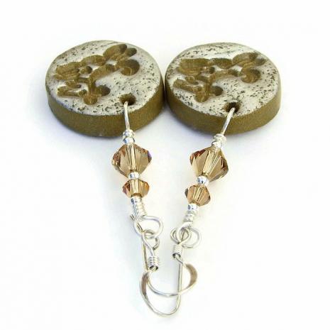 Handmade dog earrings