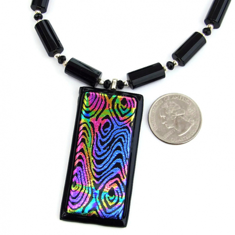 Dichroic jewelry for women.