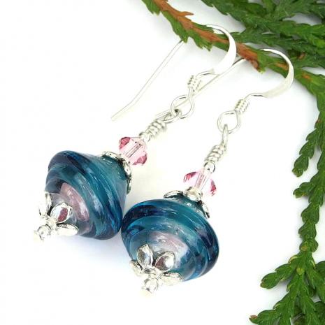 lampwork earrings gift for women
