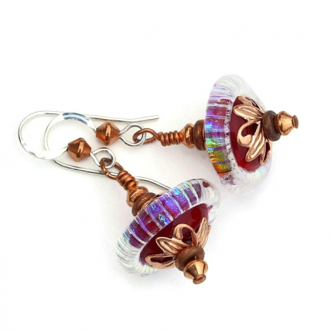 rainbow and red mothers day jewelry gift for mom