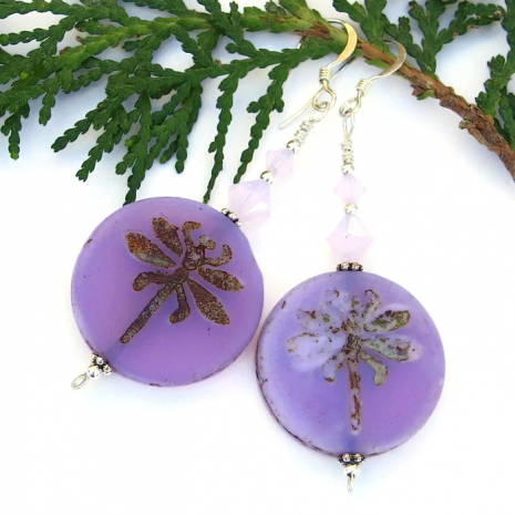 lavender purple dragonfly jewelry