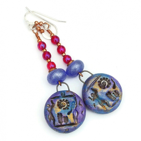 lightweight hieroglyphs handmade earrings