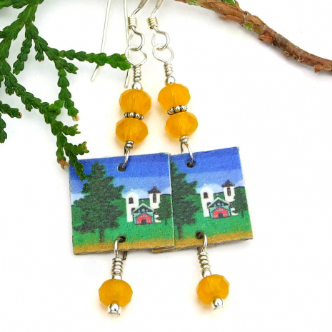 lightweight southwest church earrings