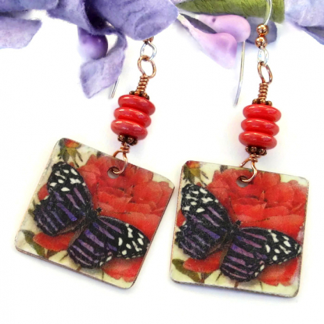 fashion jewelry for women with butterflies and roses