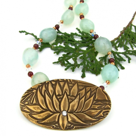 lotus blossom yoga jewelry gift for her
