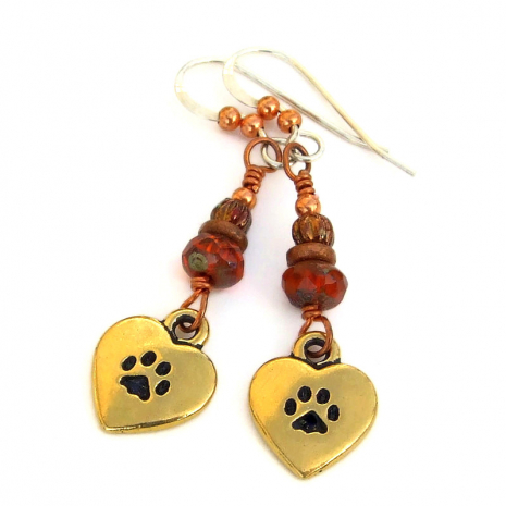 love my cat handmade jewelry gift for women