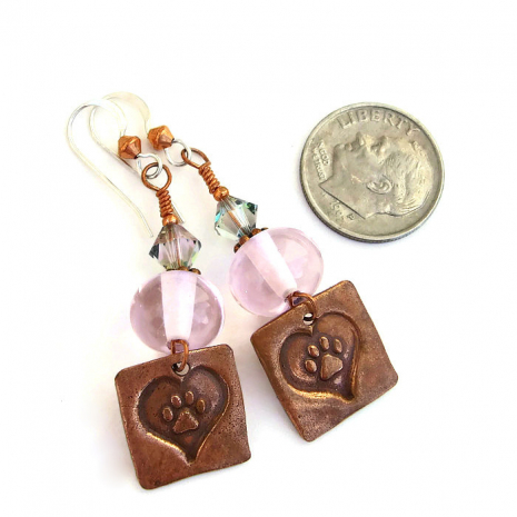 Perfect dog paw print earrings for the woman who loves dogs!