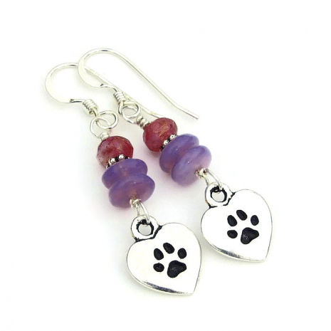 love my dog heart charm jewelry gift for her
