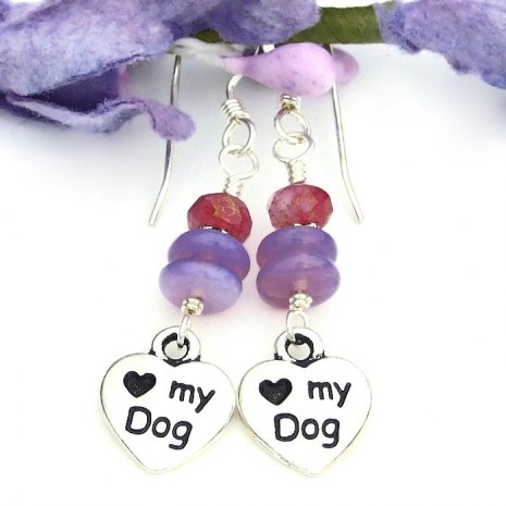 dog rescue earrings gift for women