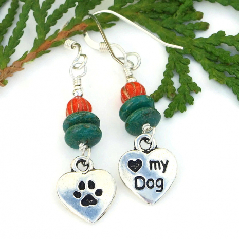 love my dog heart jewelry
