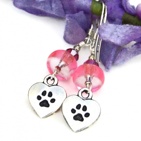 love my dog paw prints jewelry for her