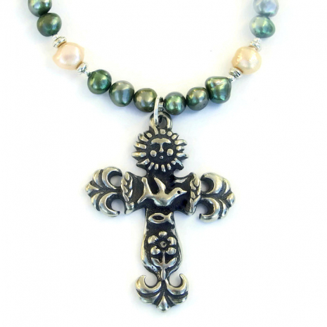 Cross jewelry for women.