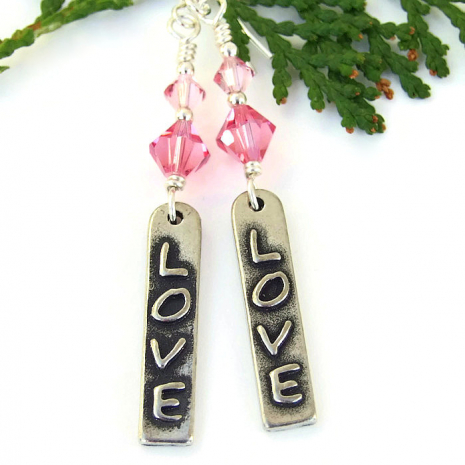 love valentines day earrings