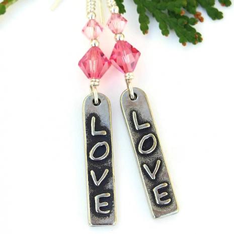 valentines love earrings for women gift idea