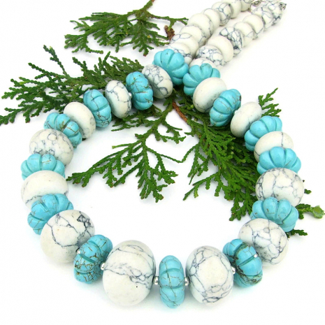 magnesite chunky southwest jewelry with sterling silver