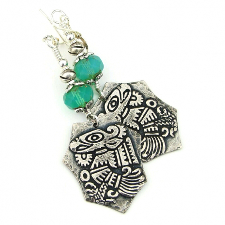 mayan bird quetzalcoatl jewelry gift for her