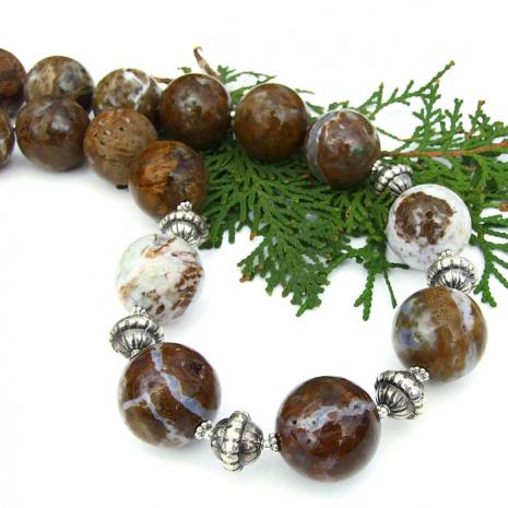 Chunky gemstone necklace,