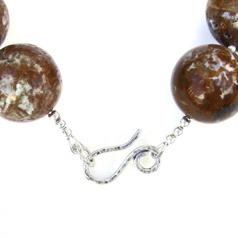 Handmade ocean jasper necklace.