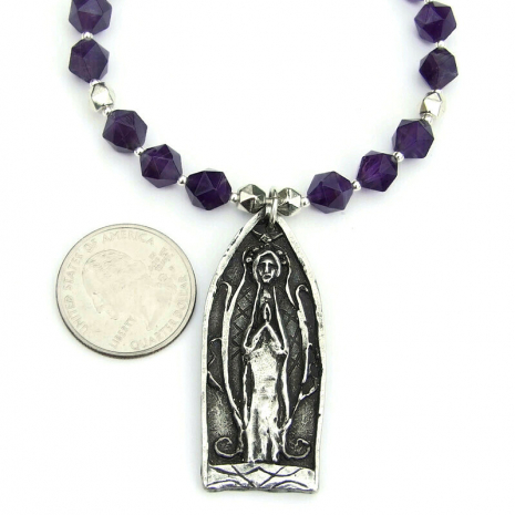 medieval praying person pendant jewelry for her