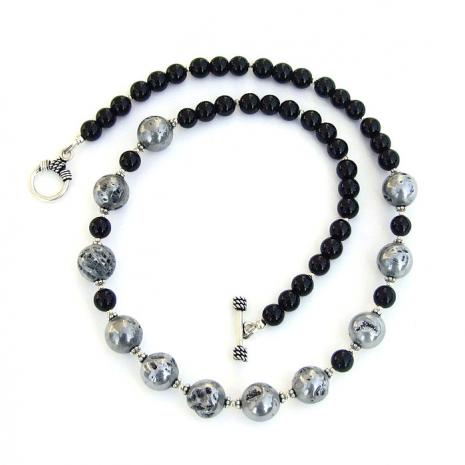 Handmade gemstone necklace for women.