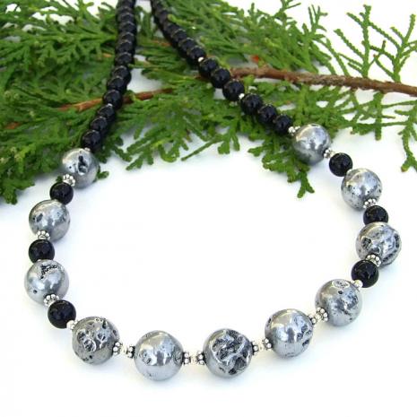 Druzy necklace jewelry gift.