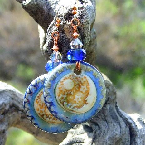 moon sun stars handmade jewelry gift for women