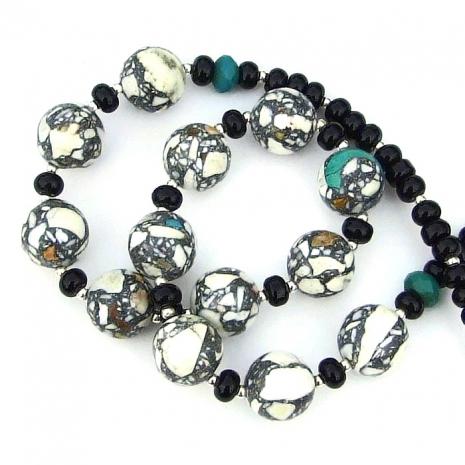 handmade mosaic magnesite gemstone jewelry