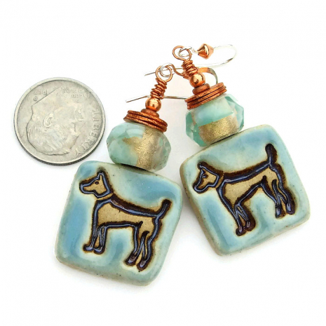 One of a kind dog earrings for her.