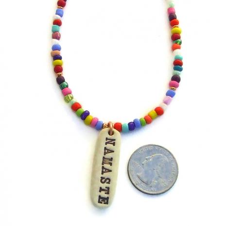 namaste pendant jewelry