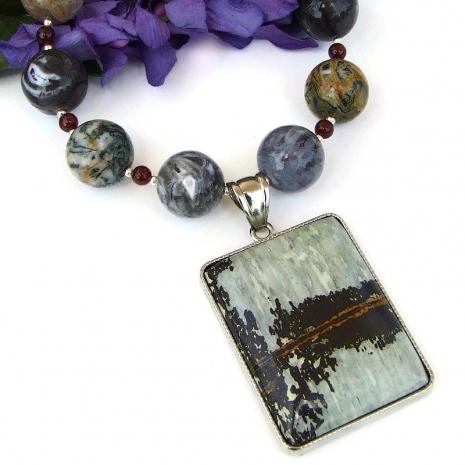 natural gemstone jewelry jasper agate garnet