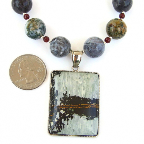 natures paintbrush jasper gemstone jewelry gift for her
