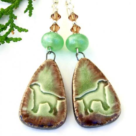 one of a kind dog lovers handmade earrings