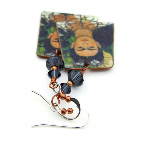 one of a kind frida kahlo copper jewelry
