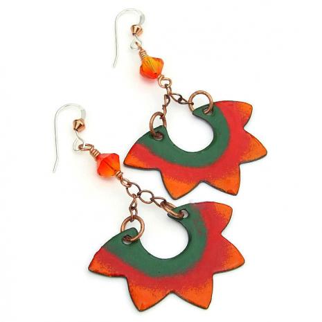boho santa fe sun earrings