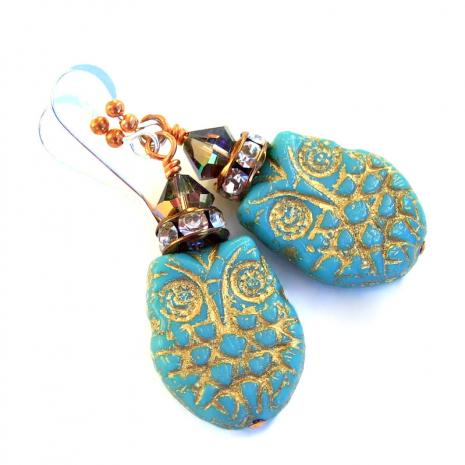 owl earrings gift for her