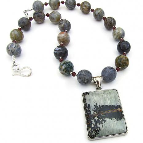 paintbrush jasper pendant jewelry crazy lace agate gemstones