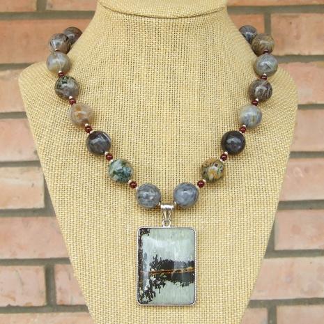 paintbrush jasper pendant necklace crazy lace agate gemstones