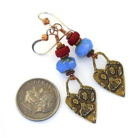 Dog rescue artisan earrings.